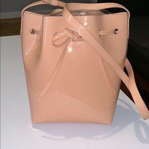 mansur gavriel mini patent bucket bag